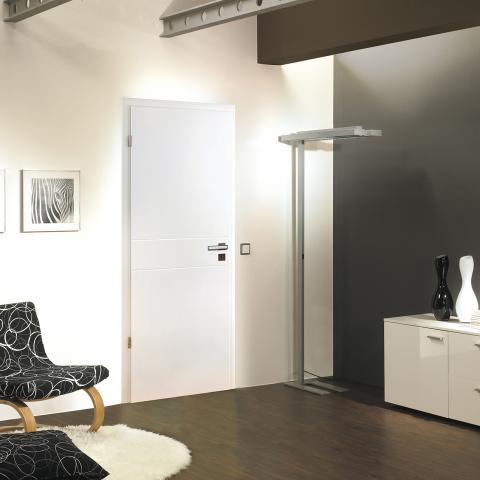 Festett fehér mart ajtó 127-es mintával