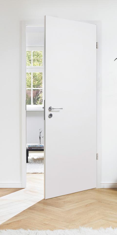 Festett fehér ajtó